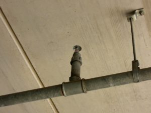 Efficiently spaced sprinkler heads can reduce water pressure required.